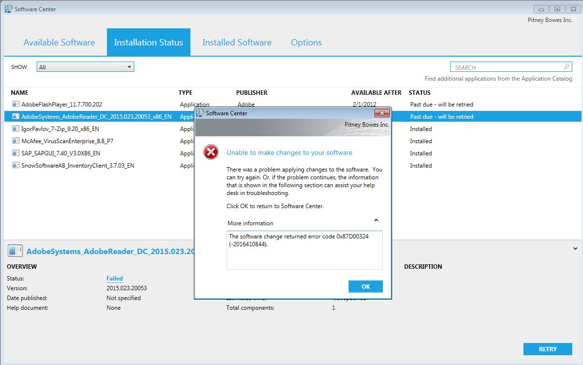 FreeKB - Resolve error 0x87D00324 in Software Center