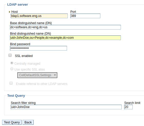 FreeKB - How to configure LDAP in WebSphere