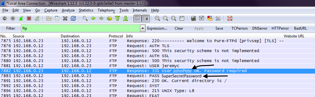 FreeKB - How to view FTP usernames and passwords in Wireshark